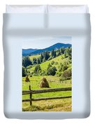 A View From The Carpathians Duvet Cover