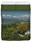A View From The Hudson River Walkway Duvet Cover