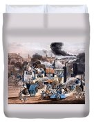 A View In White Chapel Road 1830 Duvet Cover