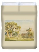 A View Of Chirk Castle, 1916 Duvet Cover