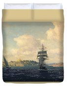 A View Of Constantinople Duvet Cover