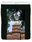A View Of Independence Hall Duvet Cover