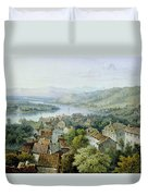 A View Of Karlsruhe Duvet Cover