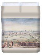 A View Of London From St Pauls To The Custom House, 1837 Duvet Cover