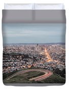 A View Of San Francisco At Twighlight Duvet Cover