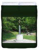 A View Of The Air Cadet Memorial Duvet Cover