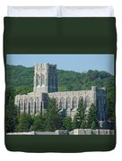 A View Of The Cadet Chapel At The United States Military Academy Duvet Cover
