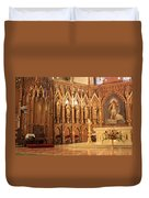 A View Of The St. Patrick Old Cathedral Altar Area Duvet Cover