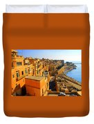 A View Of Valletta's Waterfront Duvet Cover