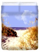 A View Through The Dunes To The Ocean Duvet Cover