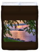 A View To A Sunset Duvet Cover