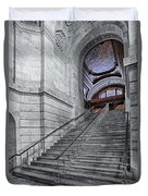 A View To The Mcgraw Rotunda Nypl Duvet Cover