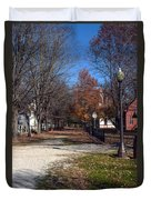 A Walk Down History Lane Duvet Cover