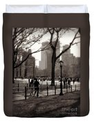 A Walk In Central Park - Antique Appeal Duvet Cover