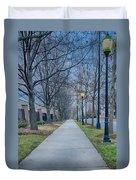 A Walk On A Sidewalk Street Alley Duvet Cover