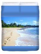 A Walk On The Beach  Duvet Cover