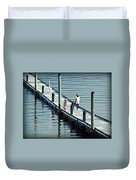 A Walk On The Pier Duvet Cover