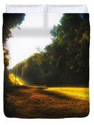 A Warm Michigan Sunrise Duvet Cover