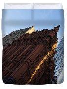 A Warm Slice Of Sunshine - Manhattan's Potter Building At Sunrise Duvet Cover