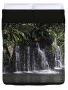 A Waterfall As Part Of An Exhibit Inside The Jurong Bird Park Duvet Cover
