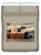 A Well Stocked Camp Duvet Cover
