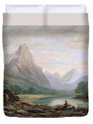 A Welsh Valley, 1819 Duvet Cover