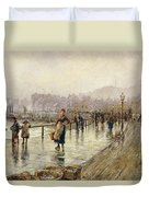 A Wet Day In Whitby Wc On Paper Duvet Cover
