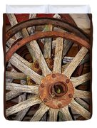 A Wheel In A Wheel Duvet Cover by Phyllis Denton