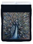 A White Peacock Duvet Cover