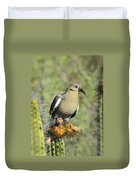 A White Winged Dove  Duvet Cover