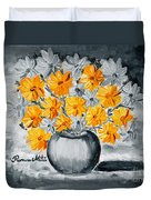 A Whole Bunch Of Daisies Selective Color I Duvet Cover