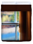A Window With Torn Curtains Duvet Cover