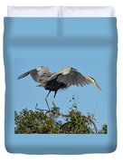 A Winged Stance Duvet Cover