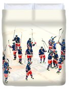A Winning Salute Duvet Cover