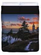 A Winter Dusk At West Quoddy Duvet Cover