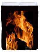A Winter Fire Duvet Cover
