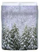 A Winter Scene Duvet Cover