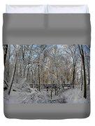 A Winter Scene Duvet Cover