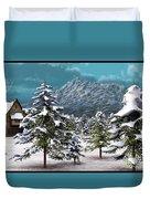 A Winter Scene... Duvet Cover