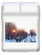 A Winter Wonderland Walk Duvet Cover