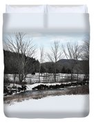 A Wintery Day In Vermont Duvet Cover