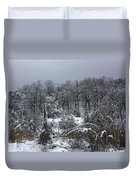 A Wintery View At The United States Military Academy Duvet Cover