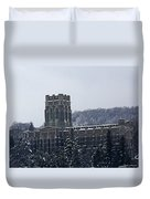 A Wintery View Of The Cadet Chapel At The United States Military Academy Duvet Cover