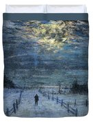 A Wintry Walk Duvet Cover by Lowell Birge Harrison