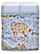 A Wolf In Winter Duvet Cover by Skye Ryan-Evans