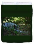 A Wolf Naps Duvet Cover