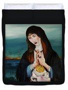 A Woman In Prayer Duvet Cover by Joseph Demaree