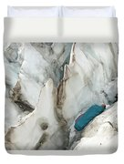 A Woman Sleeping In An Icy Crevasse Duvet Cover