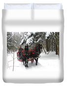 A Wonderful Day For A Sleigh Ride Duvet Cover