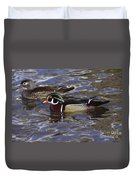 A Wood Duck Pair  Duvet Cover